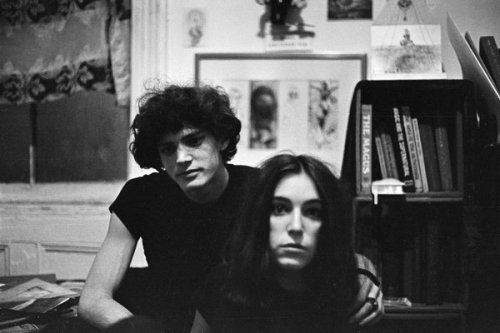 Lloyd Ziff. Patti Smith and Robert Mapplethorpe, c. 1960. (On display at Danzinger, Mar 28 - May 4, 2013)