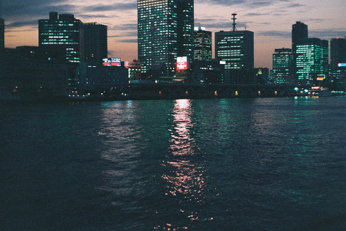 grett:  Roppongi at Night from Tokyo Bay by Baka John on Flickr.