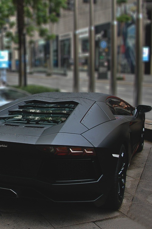 mxssive:  johnny-escobar:  Matte Black Aventador   Literally my exact dream car.