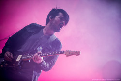 Guitarist Tomo Milicevic of 30 Seconds to Mars performs at the KROQ weenie roast y fiesta at the Verizon Wireless Amphitheater on May 18, 2013 in Irvine, California. (HQ)