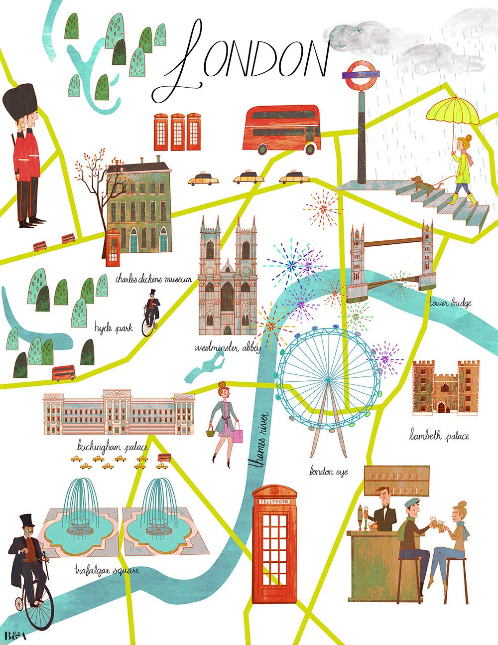 Bernstein amp Andriullis Tumblr Map Of London By Josie