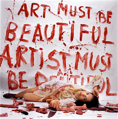 likeafieldmouse:  Marina Abramovic - Art Must be Beautiful, Artist Must be Beautiful (1975)
