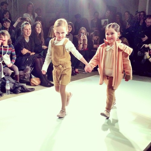 elle:  Too sweet: little Chloe @gkidsfw #GKFW @alexandalexacom  How Mal and I would walk the runway, if we were to walk the runway… wearing just that. Probably. - Bianca