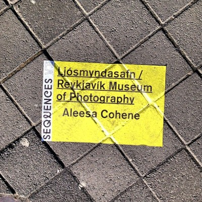 Now we are walking into the opening of Aleesa Cohene #sequences #museumofphotography