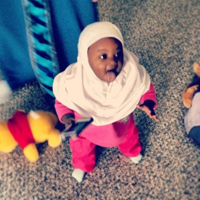 ghanaian-and-a-half:  My little girl rockin' the hijab!!! #muslimah #hijabi #ghanaian