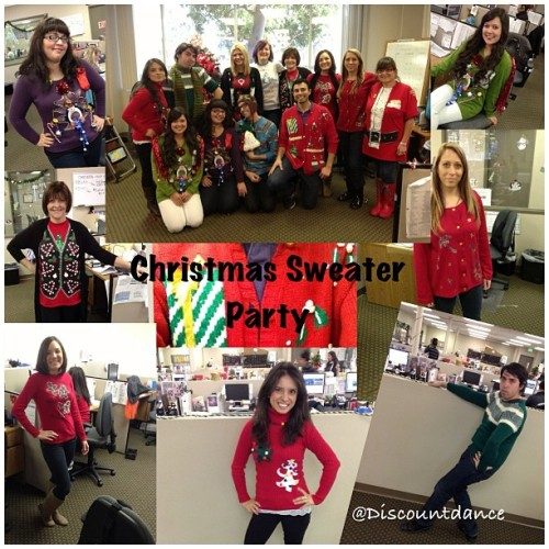 We are all about the Holiday Spirit! Here are some of our customer support reps in their #christmas #sweaters #wedance