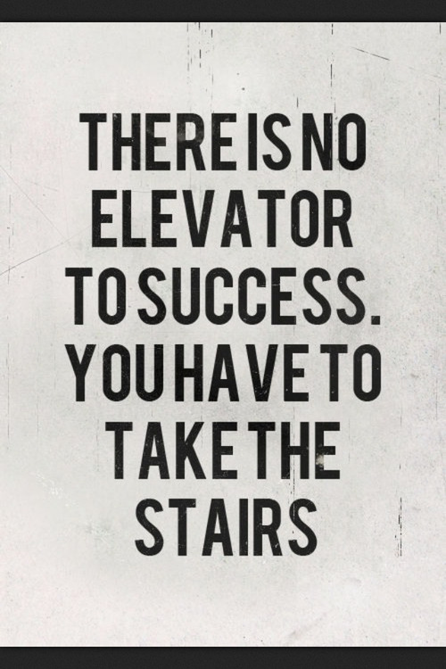 Take the stairs…