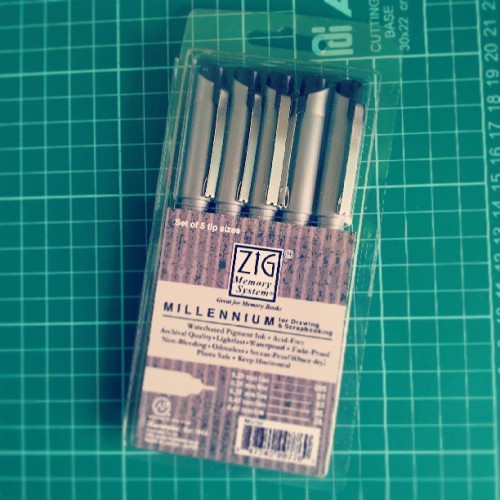 ZIG Millennium Pens. I've yet to test these pens fully. With the few pens I've tested, I really like the line it creates. Samples and mini-review to follow.