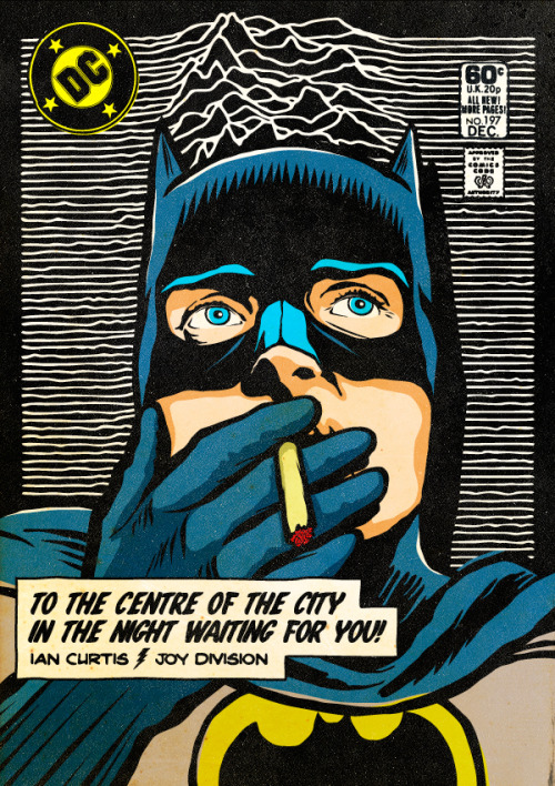 panelpanopticon:  From a fascinating project by Butcher Billy, where he has reconfigured iconic DC superheroes to fit with post-punk/New Wave idols.