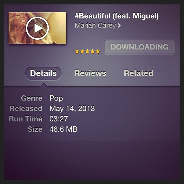 #MariahCarey #Beautiful #VIDEO Now available on iTunes: (X)