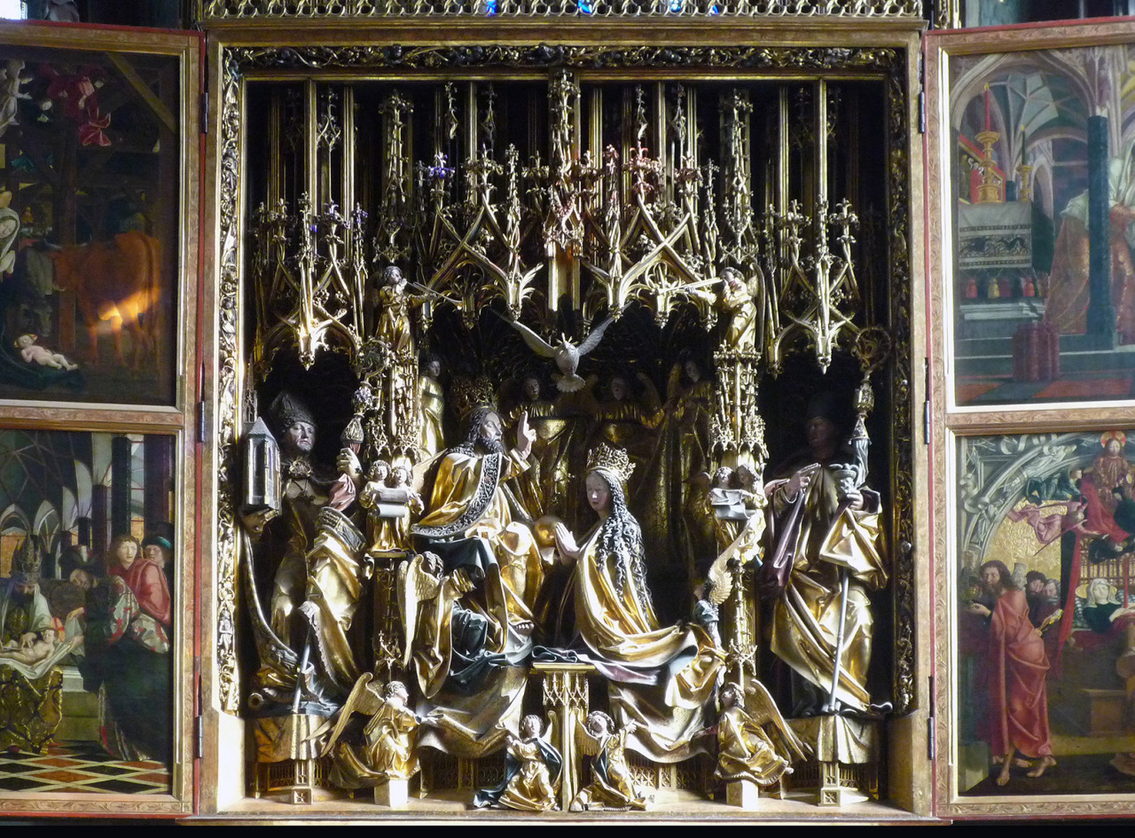 Michael Pacher, St. Wolfgang Altarpiece, c. 1479-81 (Church of St. Wolfgang, St. Wolfgang, Austria)  Photo: Steven Zucker