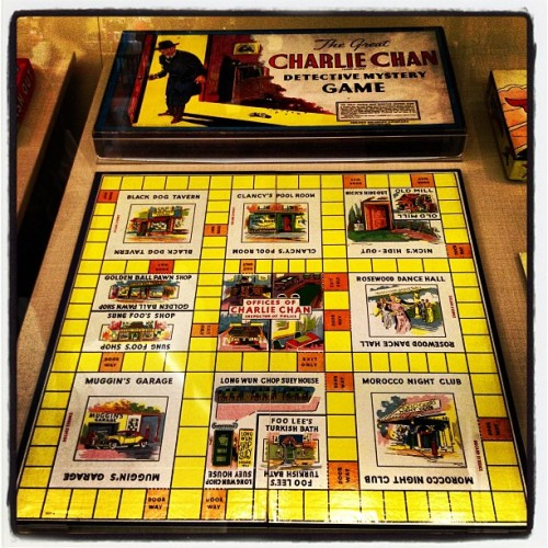 Cool board game exhibit at SF airport!  1937 Charlie Chan board game