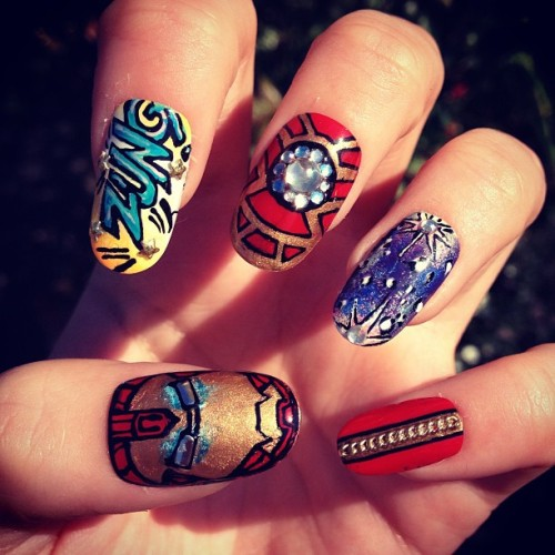 nailedbygrace:  My #Ironman3 nails!