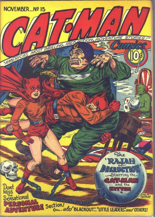 psaaok:  Cat-Man Comics, Issue #15, undated. Source