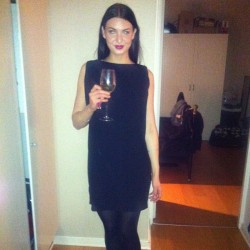 #me #tinight #swedish #girl #woman #black #dress #white #wine #party #brunette #longhair #fashionista #fashion #style #beauty #beautiful #hot #stylish #elegant #modern #purplelips #igfashion #instafashion #outfit #outfits #inspiration #fashionblogger #blogger #skövde #sweden