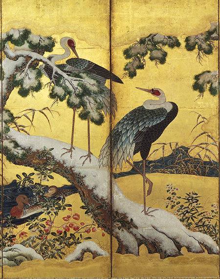 manybirdsfromthetreeoflife:  Birds and Flowers of the Four Seasons, Momoyama period (1573–1615), early 17th centuryKano SchoolJapan
