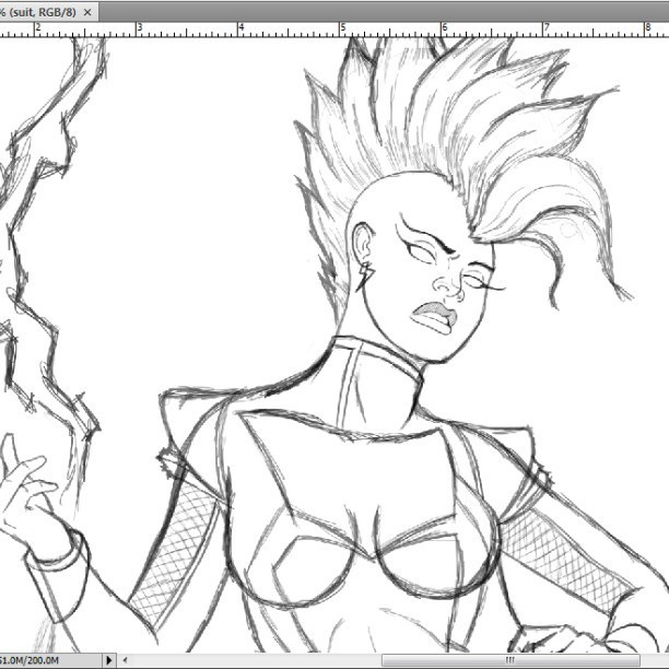 Let's hope that I like this Storm sketch enough to finish this one #art #sketches #artofinstagram #storm