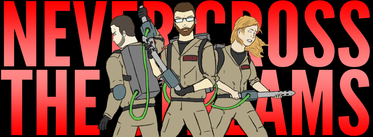 30-day drawing challenge.Day seven: draw your family. Who you gonna call? My bro, me, and my sis.