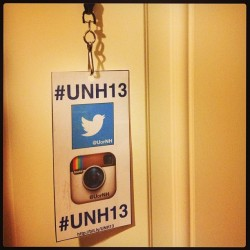 Look for @unhstudents tomorrow at #UNH13 Commencement - we'll be wearing these badges! (at 2013 UNH Commencement)