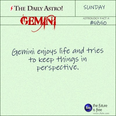 Gemini 5850: Visit The Daily Astro for more Gemini facts.Click here for a free tarot reading :)