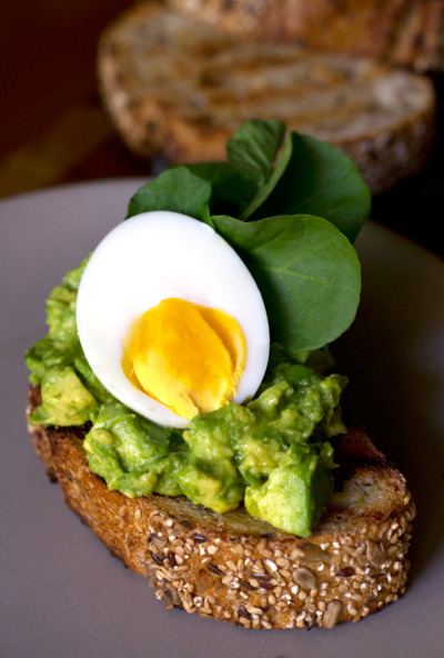 notanotherhealthyfoodblog:  Avocado Toast with Soft Boiled Eggs  click here for recipe