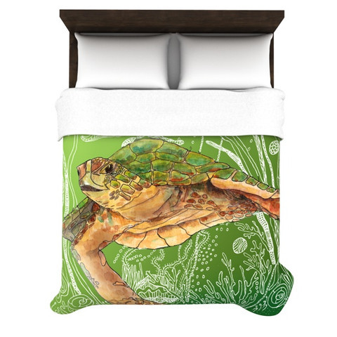 "Catherine Holcombe ""Shelley Green Sea"" Duvet Cover"