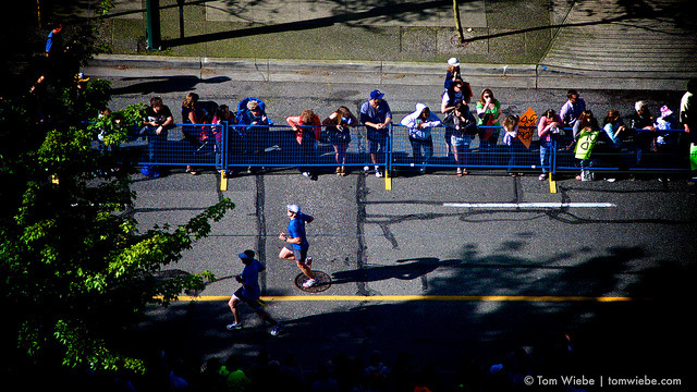 2013 Vancouver Marathon on Flickr.Via Flickr: Participated in the Marathon once again this year. In as much as 'took some pictures from my balcony while still in my house coat and sipping my morning coffee' counts as participation. I'm exhausted!