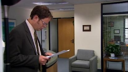 theofficenbc:  Dwight, At 8 AM today someone poisons the coffee. Do NOT drink the Coffee. More instructions to follow. Cordially, Future Dwight  One of my favorite Jim pranks! LOL.