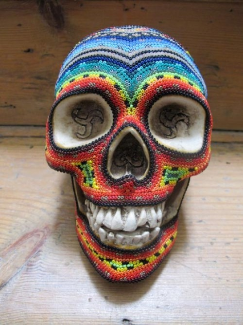 Our Exquisite Corpse - Huichol Beaded Skull