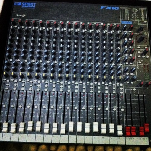 "New Tool - Soundcraft FX16 - Made in England - #live or #studio - This board has that ""grandma's car with low miles"" story."