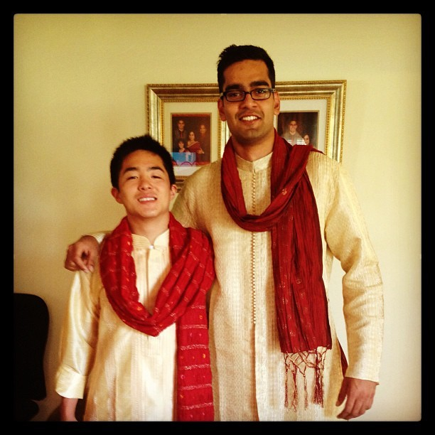 #Wedding crashers? #firstwedding #deckedout #matching lol #traditional