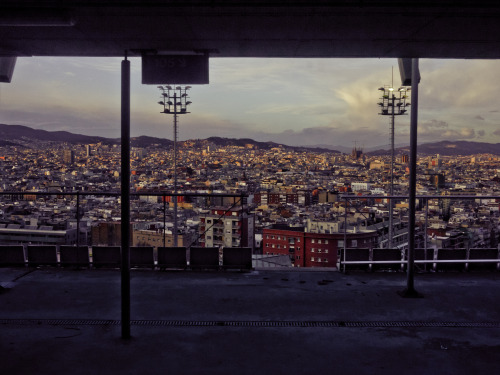 City as cinema, Barcelona.