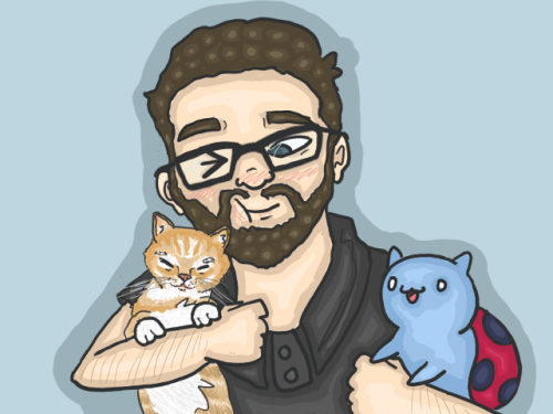 trout-fish:  Burnie and his two favourite cats by *trout-fish