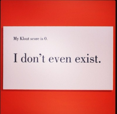 Got Klout? via @deangrey instagram