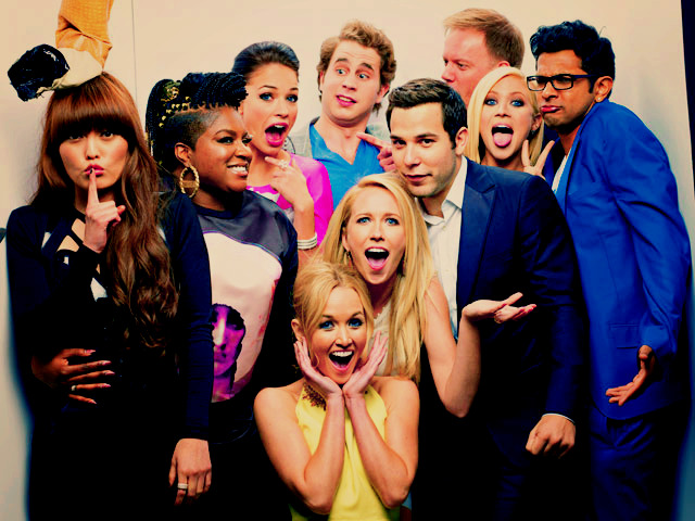 Pitch Perfect cast in MTV Movie Awards photobooth