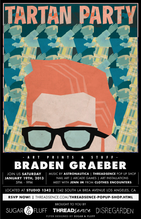 So Braden Graeber is going to be selling art & stuff too. Come by and say hi to him.RSVP here!