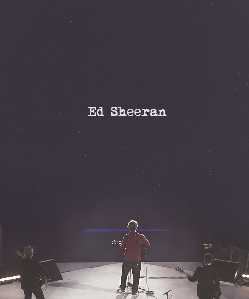 """Playing a small show today"" - Ed Sheeran about the olympics 2012."