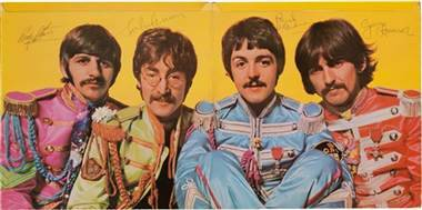"Signed 'Sgt. Pepper' Beatles album rockets past predicted auction price (Photo: AP Photo/Heritage Auctions) A copy of ""Sgt. Pepper's Lonely Hearts Club Band"" autographed by all four Beatles up for auction has already surpassed its estimated price by tens of thousands of dollars, The Associated Press reports. Read the complete story."