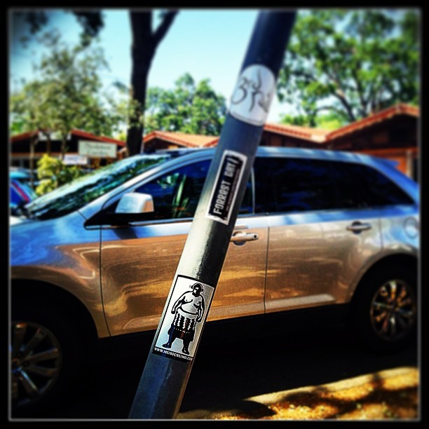 Spotted on the streets of Lafayette, CA. Music Sumo is everywhere!! (at Chow - Lafayette)