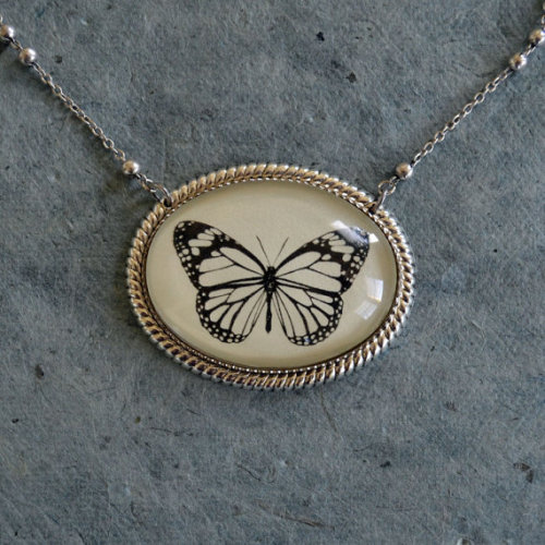 Cut-out butterfly necklace by Tina Tarnoff on etsy This shop is also running a Valentine's Day sale! Everything is 20% off with the code VALENTINE20!