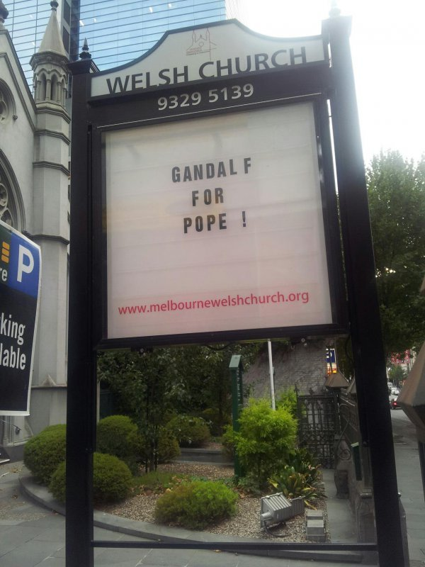 collegehumor:  Gandalf For Pope YOU. SHALL. NOT. (Attend) MASS.