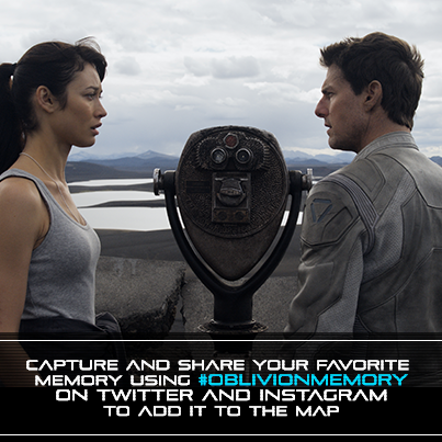 Add YOUR memories to the world of @OblivionMovie on Instagram & Twitter #OblivionMemory. http://bit.ly/ZAyfMi -TeamTC