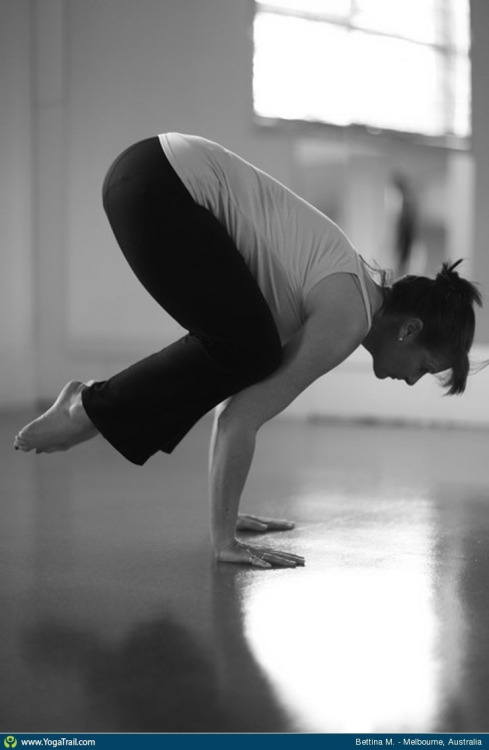 Bakasana - crow pose…great for strengthening the wrists and concentration