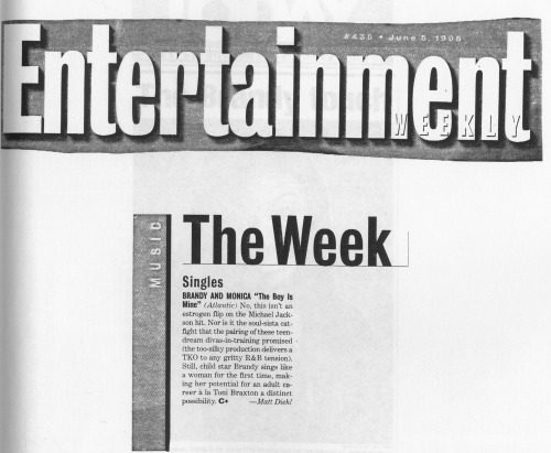 "NSN FILES: Entertainment Weekly about ""They Boy Is Mine"", June 5 1998"