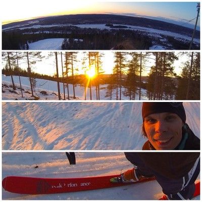Backyard ski resort Ounasvaara is closed. It's time to skiing. #skiing #sunset #telemark #diary #ounasvaara #lapland