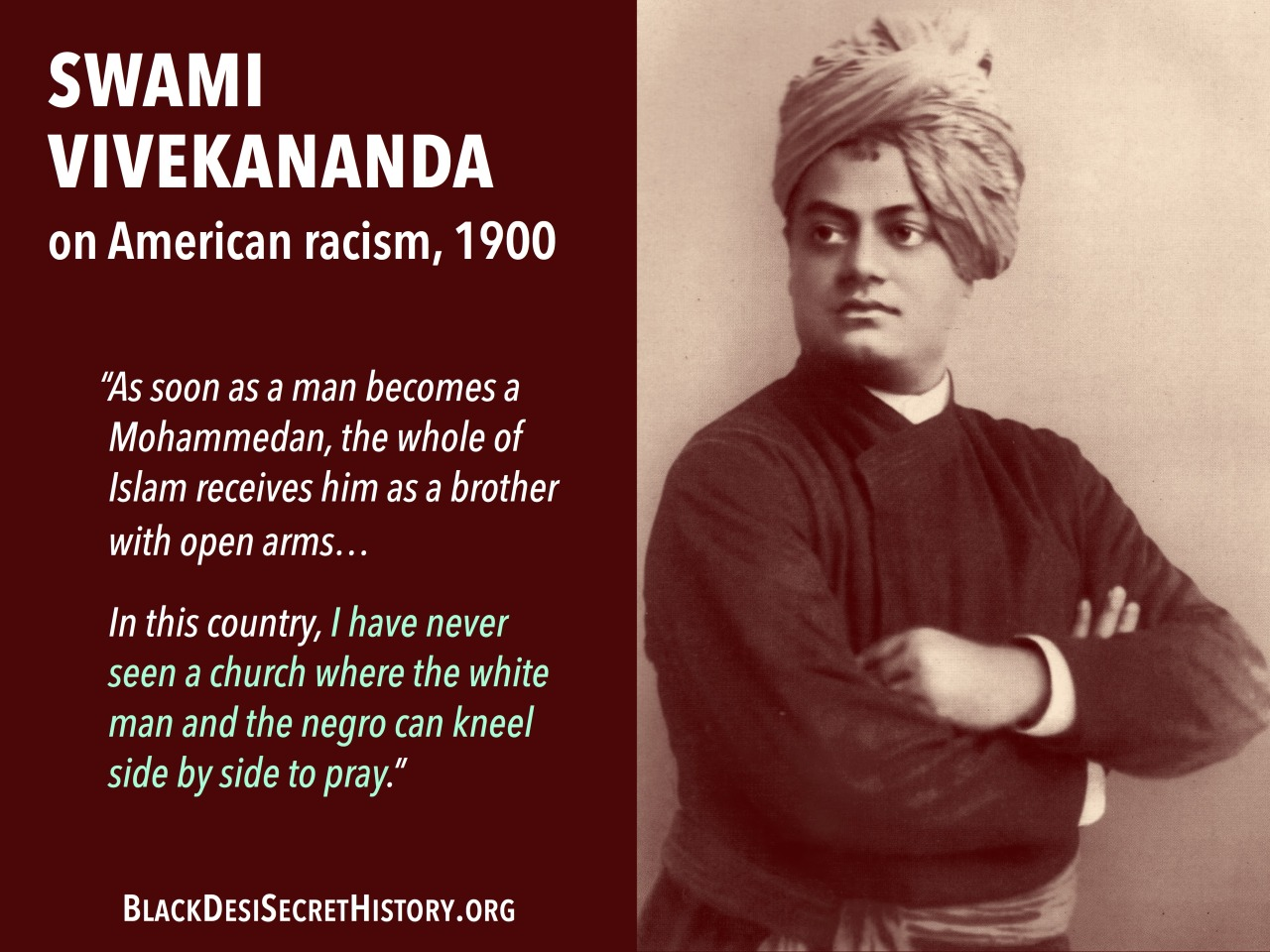 Swami Vivekananda's travel to the United States is central to the story of the global Indian