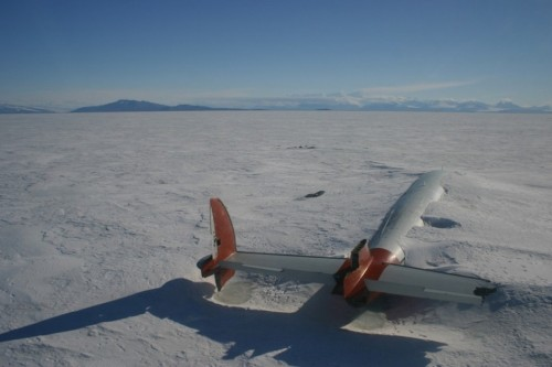 The remains of the Pegasus, McMurdo Sound, Antarctica.