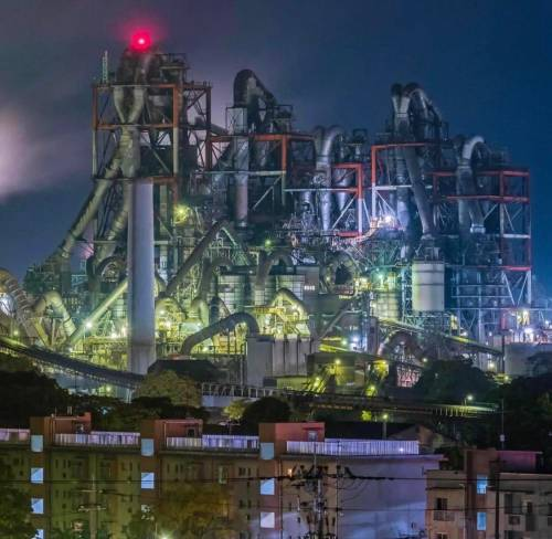 evilbuildingsblog:Mitsubishi Cement Factory