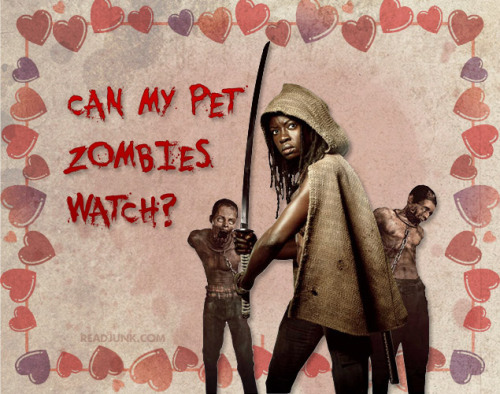 The Walking Dead Pick Up Lines: Can my pet zombies watch? Read the rest at ReadJunk.com.