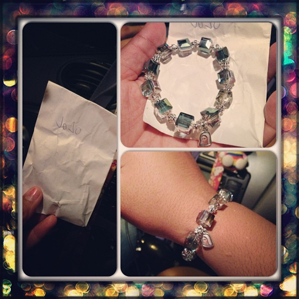 My Korean Mommy got me this bracelet from Europe! 😊❤💛💚💌 #koreanmommy #bestie #bestieforfivever #jasminenaomi #myluckystarshineboobookittyfuck
